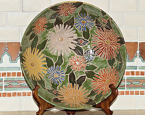 Cathra-Anne's Big Zinnia Bowl in Denise and John's home in California