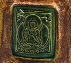 Green Buddha Medallion