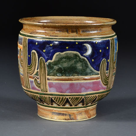 Valley of the Sun Triptych Cache Pot