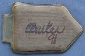 View of date and signature on back side (C. Barker '91)