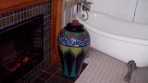 Large Umbria Jar by Richard in Kathy's Kentucky home