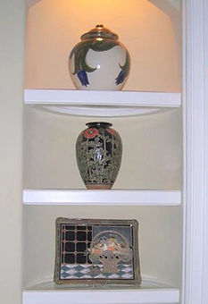 Poppy Vase in a triptych of Cathra-Anne pots