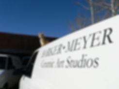 Harry the cat on Barker-Meyer Studios van