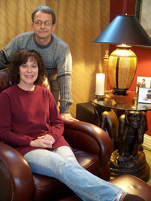 Lonnie and Mary Beth by their Richard Meyer lamp