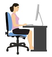 ergonomics desk sitting computer