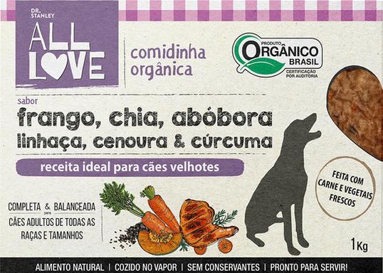 All Love | Comidinha Orgânica para cães Velhotes 1 kg