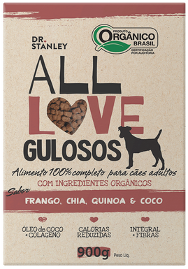 All Love - Gulosos | Frango, Chia, Quinoa & Coco 900g