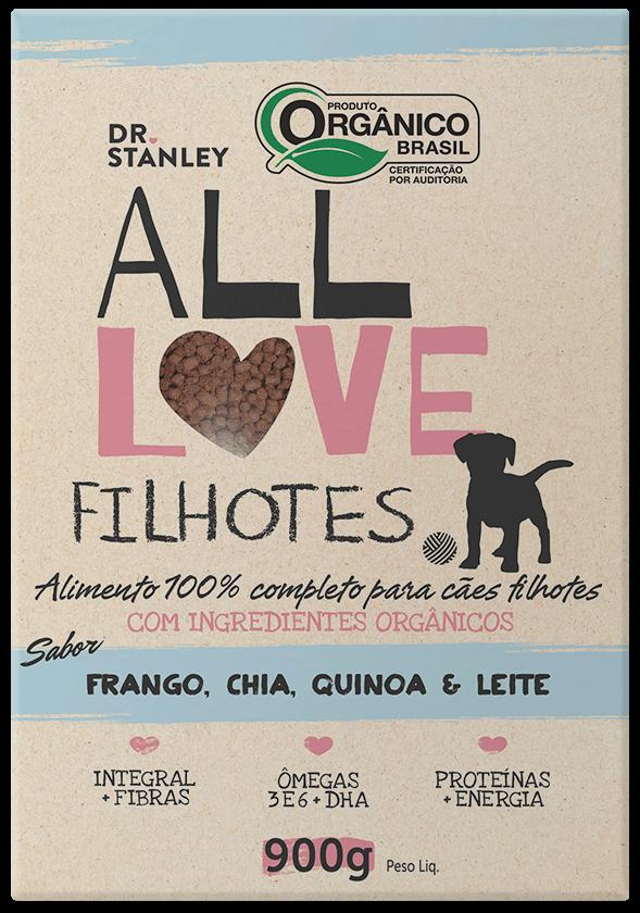 All Love - Filhotes | Frango, Chia, Cenoura & Leite 900g