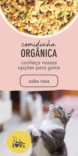 comidinha orgânica para gatos