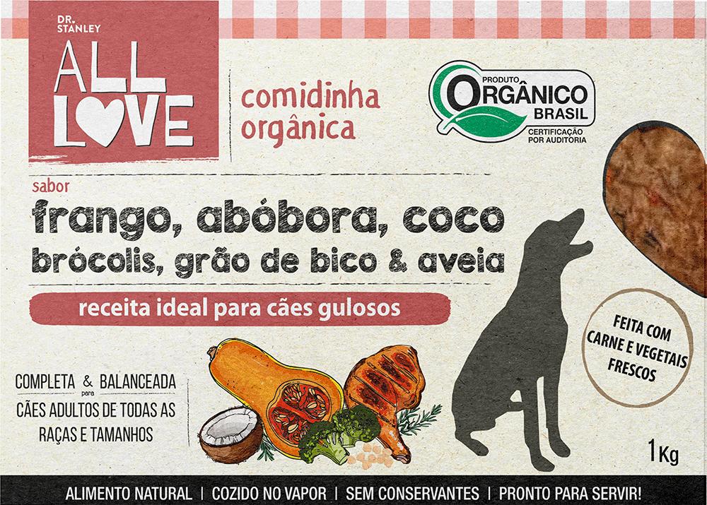 All Love | Comidinha Orgânica para cães Gulosos 1 kg