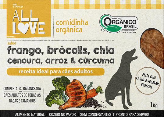 All Love | Comidinha Orgânica para cães Adultos 1 kg