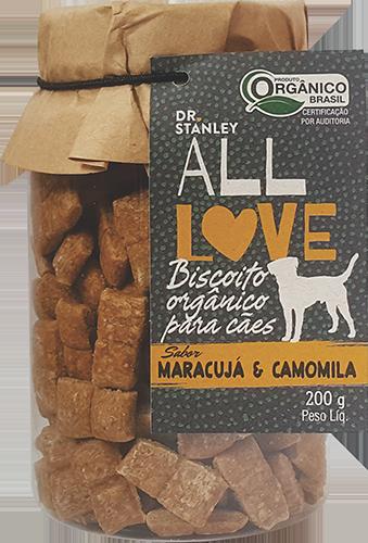 All Love - Biscoito Orgânico Cães Maracujá & Camomila 200g