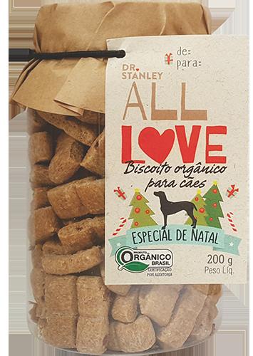 All Love - Biscoito Orgânico para Cães Edição de Natal 200g