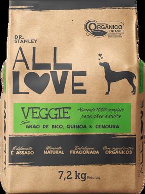All Love - Veggie | Grão de Bico, Quinoa & Cenoura 7,2 kg