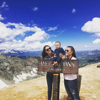 Family outing at 13,114' (Imogene Pass)
