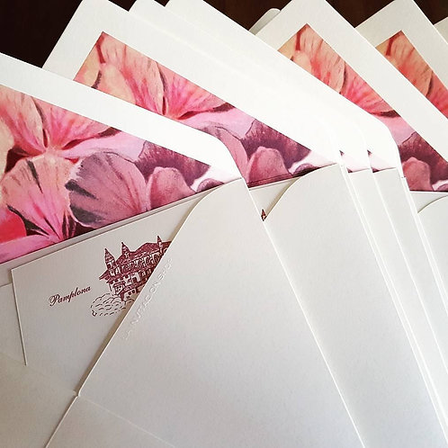 Invitations de mariage détails botaniques