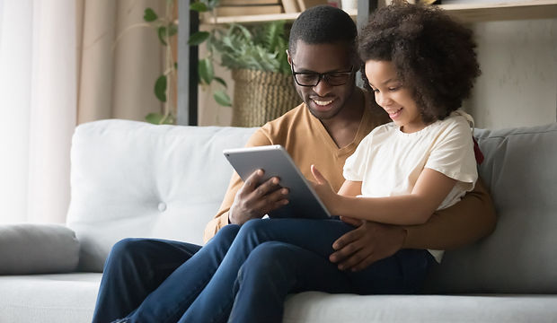 Parent and Child on tablet