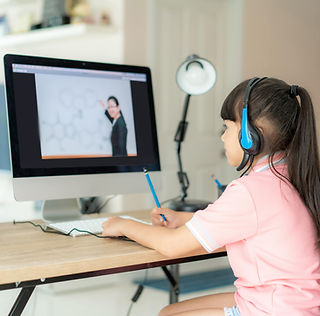 Young Girl Distance Learning