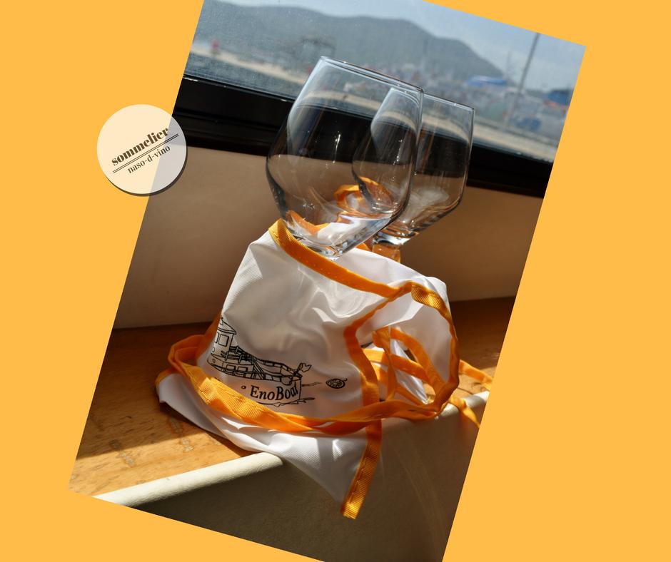 enoboat 2018 elba maggio  ais champagne e mare calici degustazione
