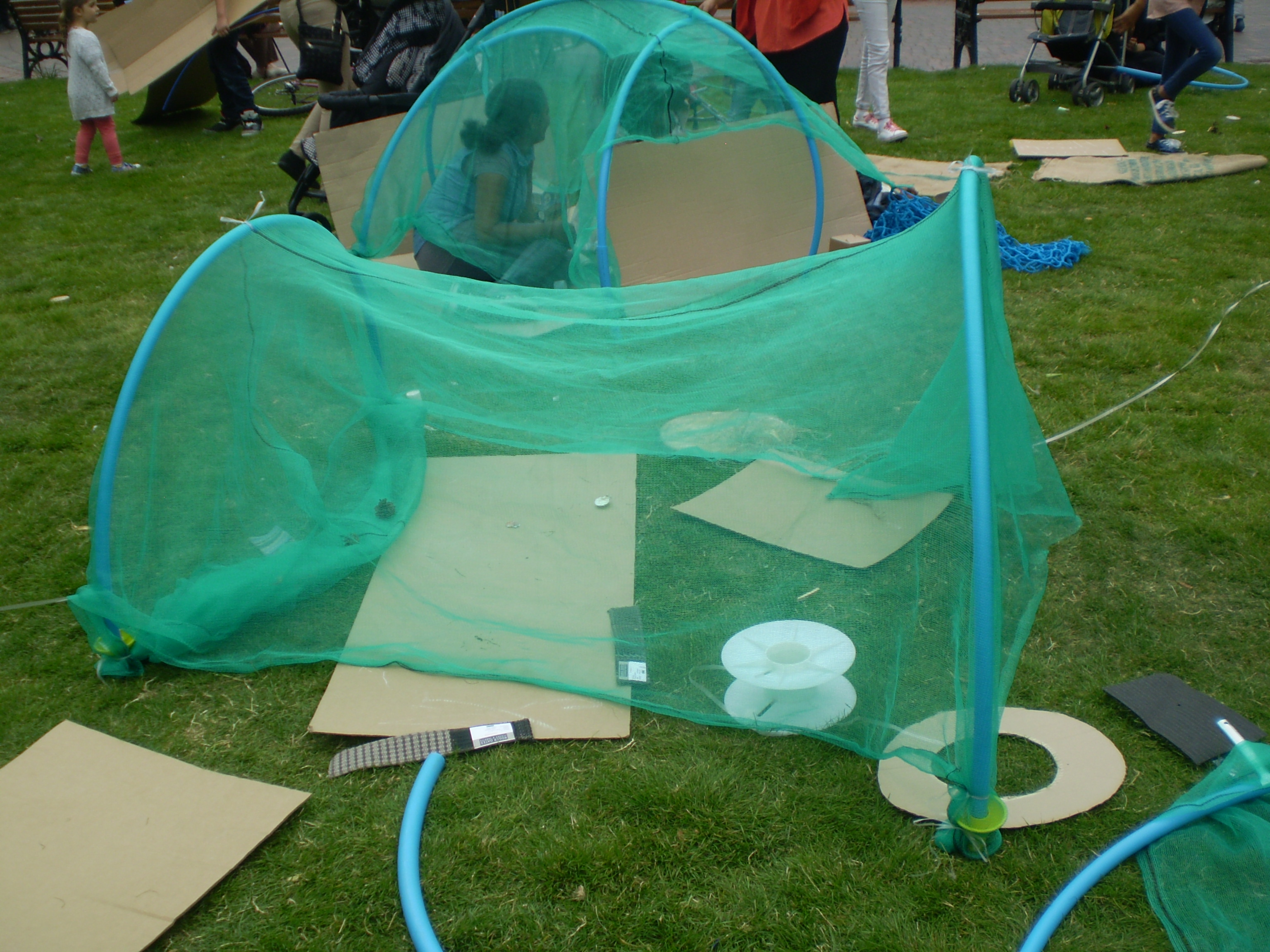 Den-making, Playday event, Leicester