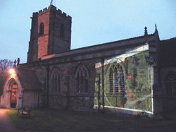 Wolvey Environmental Group projecting map of Wolvey on Church
