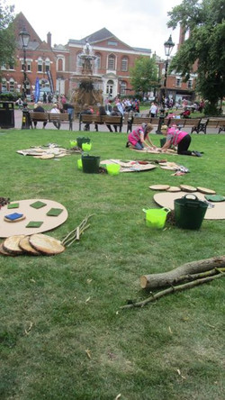 Resources set up in Leicester Town Hall Square