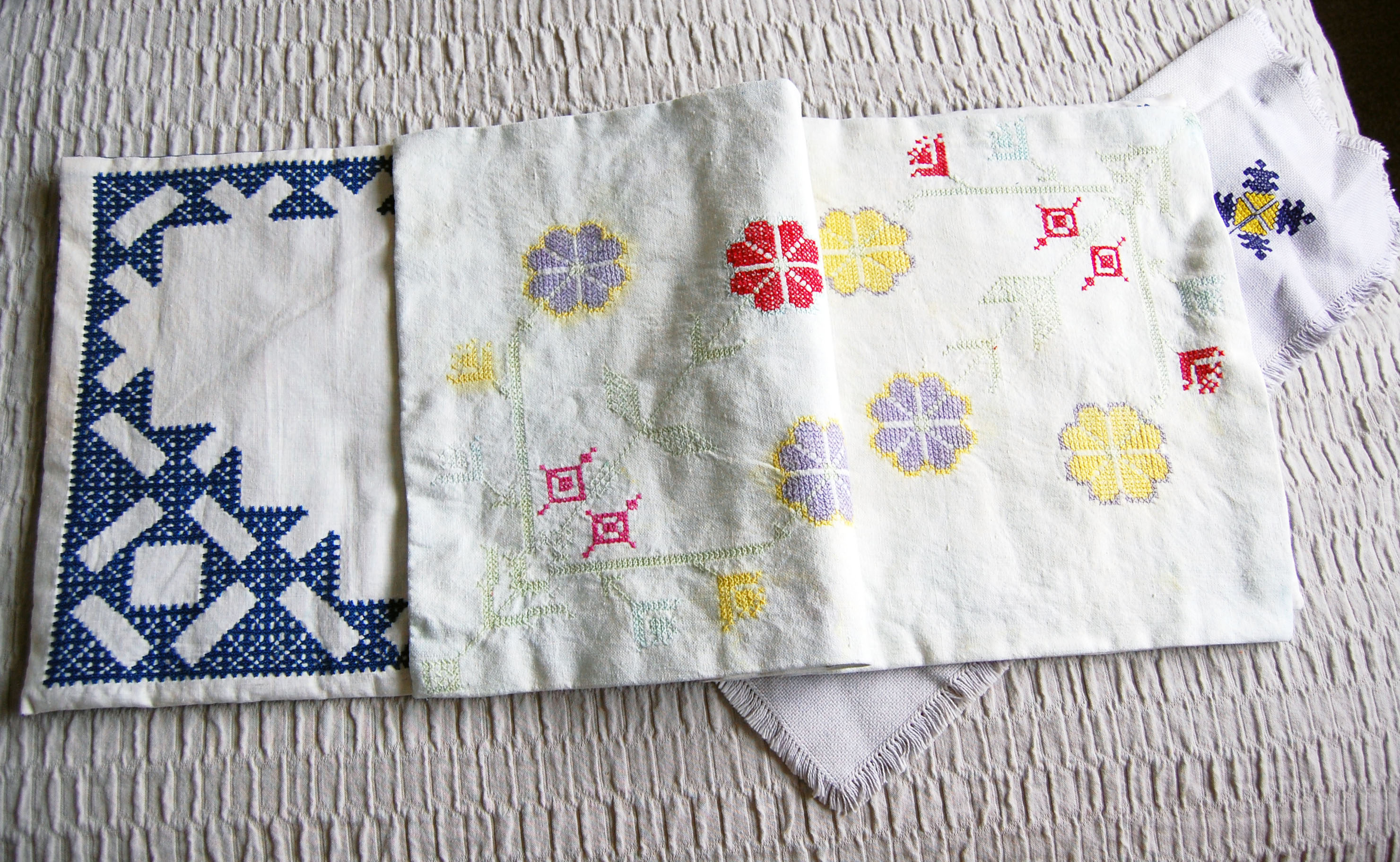 fabric book about embroidery skills