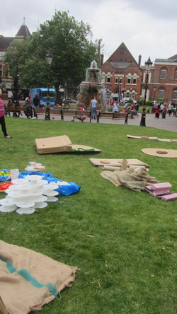 Resources set up, Playday, Leicester