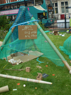 Den-making, Playday event Leicester