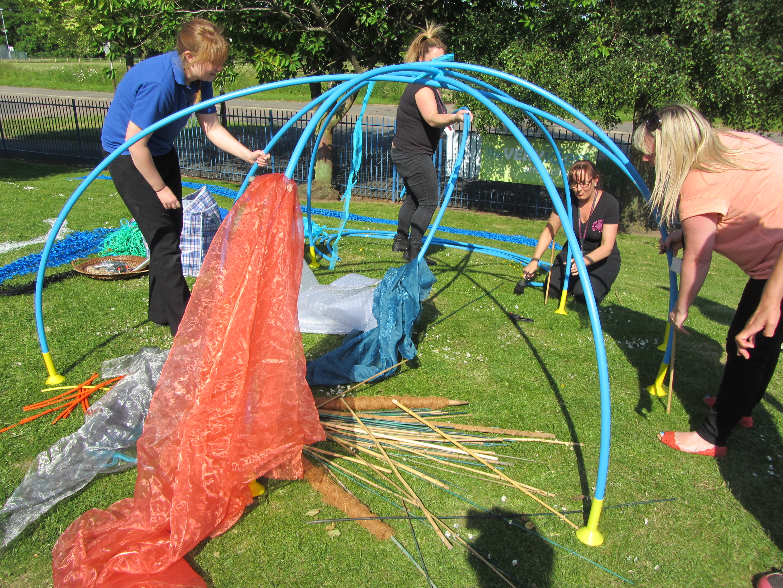 Dens involving team-work