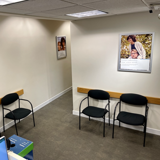 Waiting room and hallway at Northlake Eye at Asheville Mall.HEIC