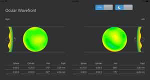 Clarifye wavefront measurementsincluding high order aberrations at night
