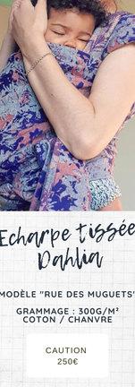 Echarpe tissée Dahlia wrap Rue des Muguets