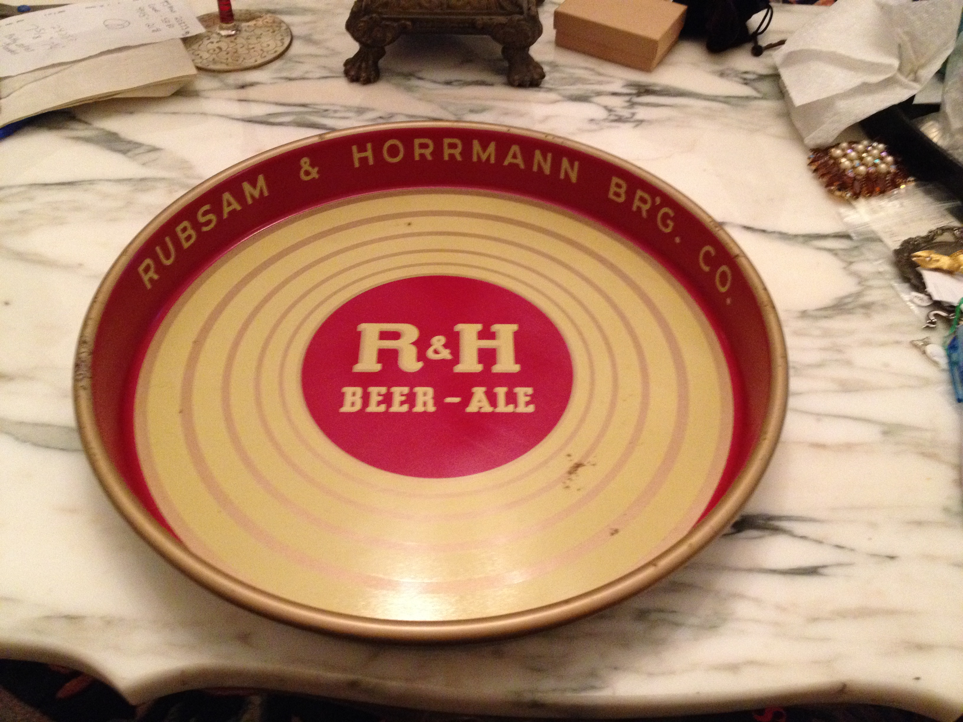 R&H Beer-Ale Collectable Tray