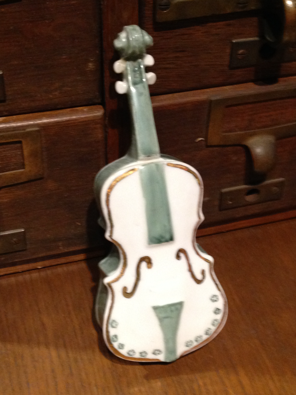 Limoge Violin Box Signed