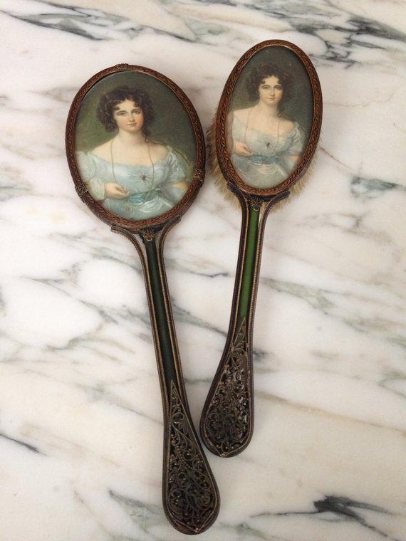 Filigree Brush & Hand Mirror