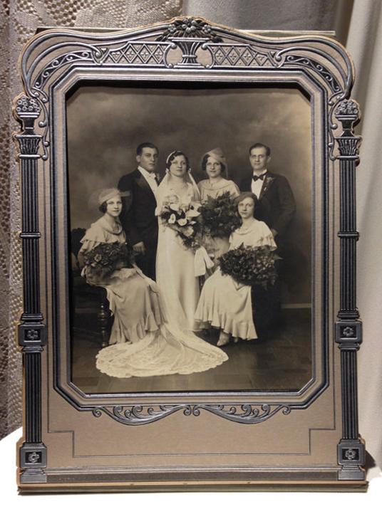 Antique Wedding Photo Framed
