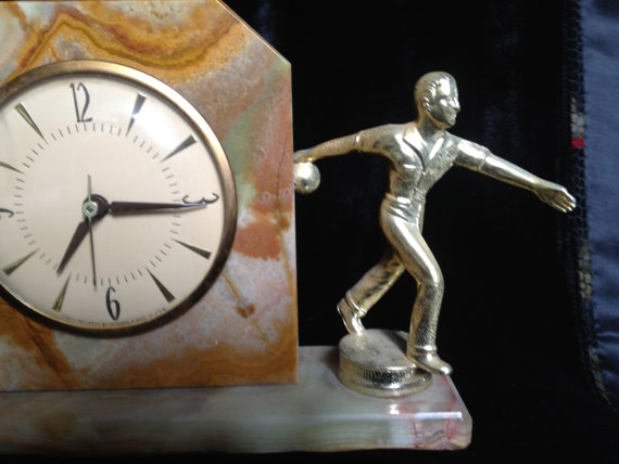 1950's Bowler Marble Clock