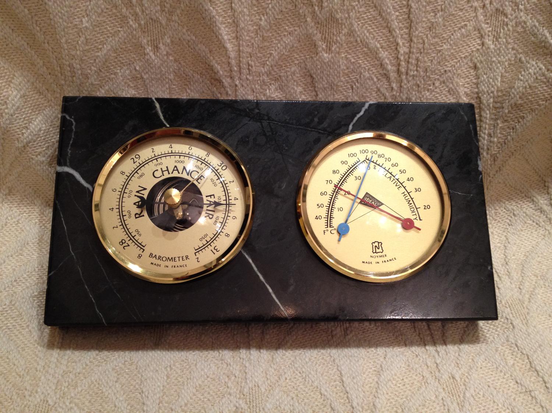 Noymer Vintage Marble Dual Barometer