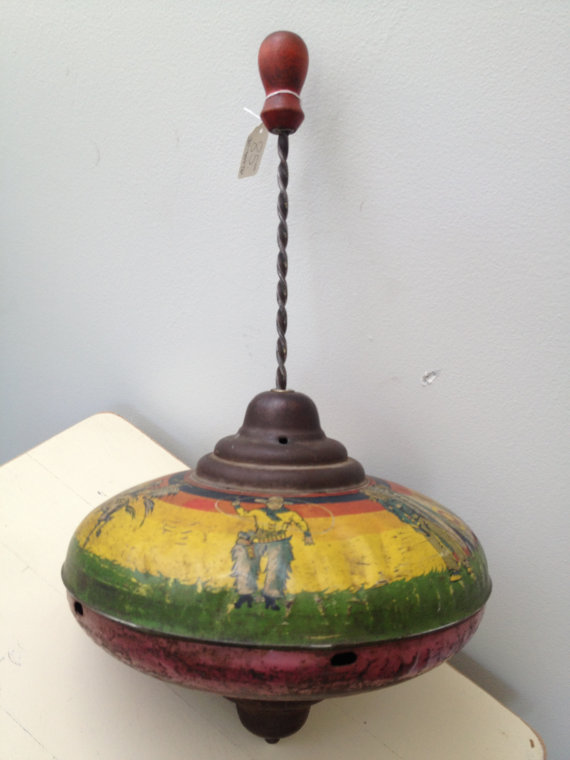 Antique Tin Toy Top