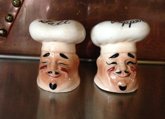 Chef Head Salt And Pepper Shakers