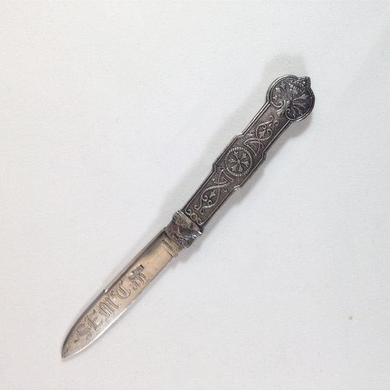Silver Victorian Pocket Knife
