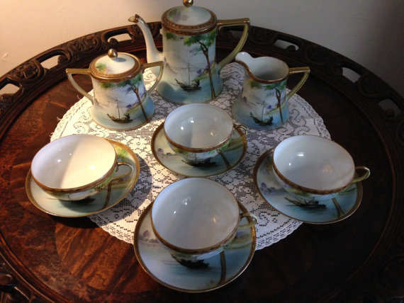 Japanese Porcelain Tea Set