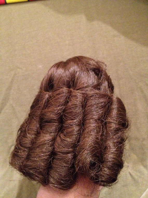 Doll wig by Dollparts, Brunette Curl