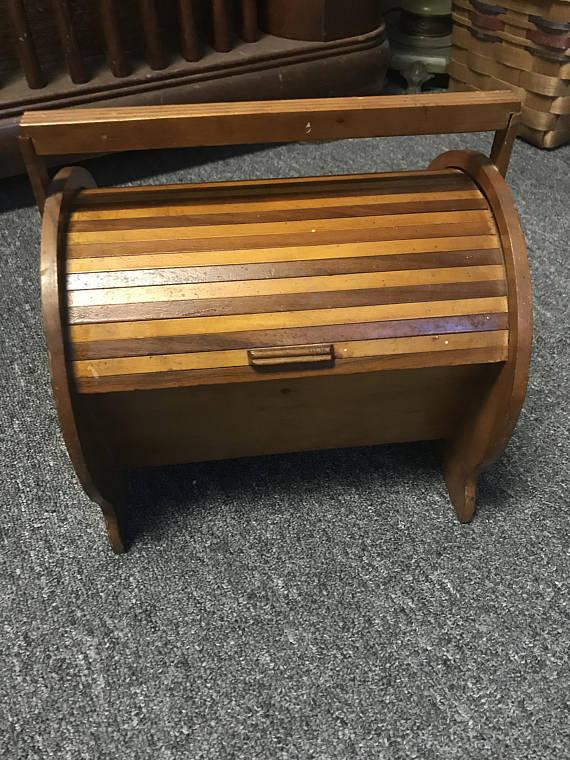 Handmade Wooden Sewing Box