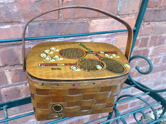 Designer Hand Painted Picnic Basket