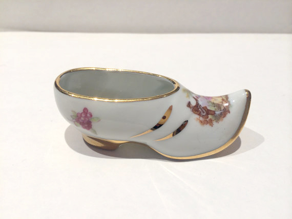Hand Painted Limoges shoe
