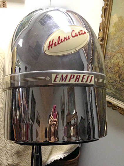 Antique Chrome Helmet Hair Dryer