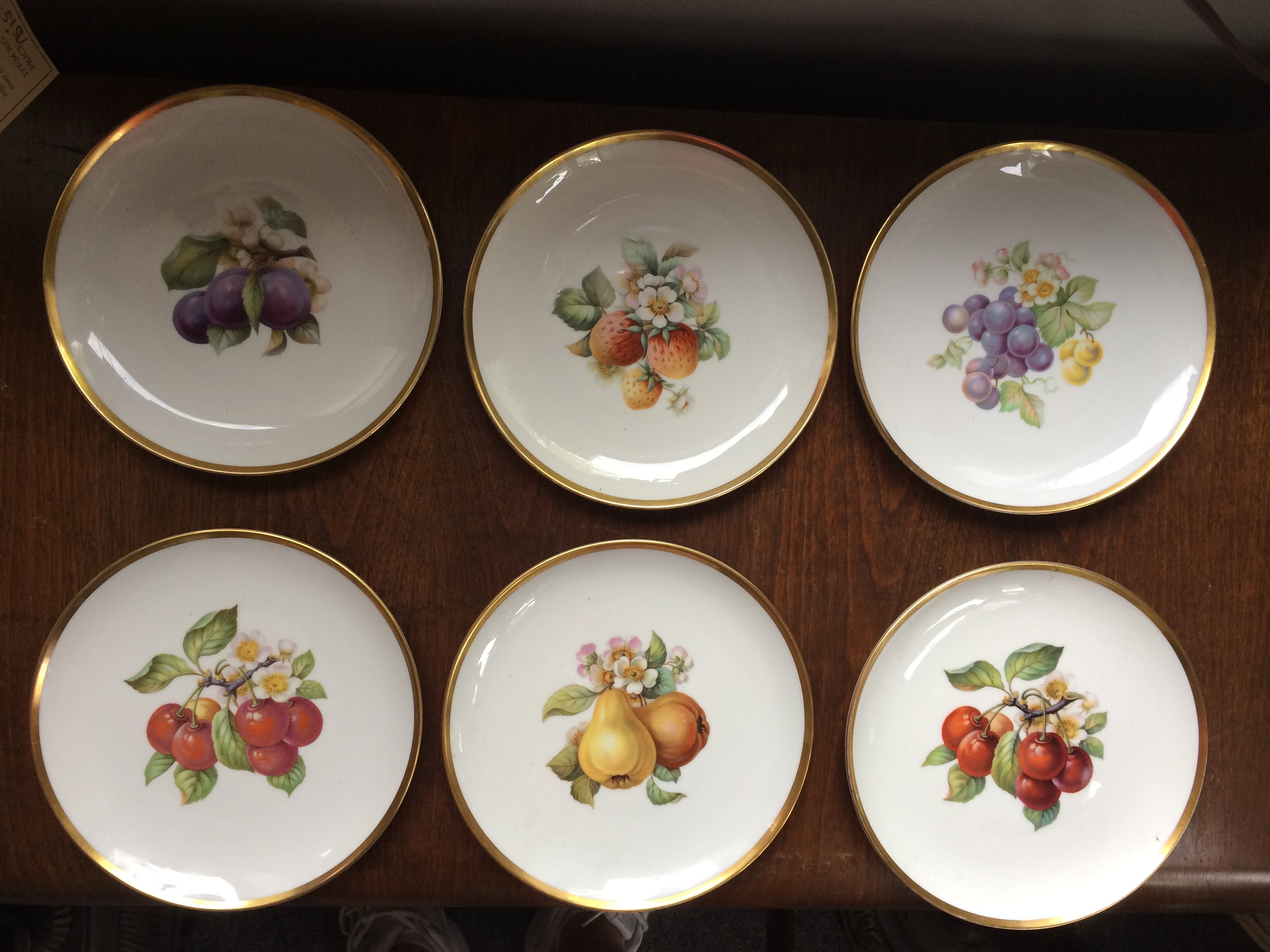 6 Hutchenreuther Fruit Plates German