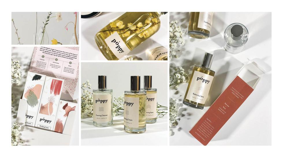 Poppy Skincare Package Design